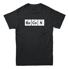 Bacon Periodic Table Barium Ba CO N Cobalt Nitrogen Meat Lover Men's T-shirt