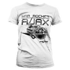 Licenza Ufficiale FLASH GORDON-GUERRA Rocket AJAX Donna T-Shirt Taglie S-XXL