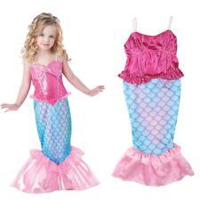 Kids Girls Mermaid Tail Bikini Set Swimsuit Swimming Costume Bathing Suit 4-12Y