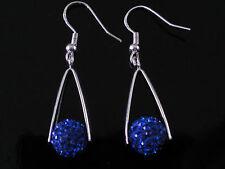 Shamballa 7 Colours Crystal Disco Ball Triangle Shaped Drop Earrings CC144