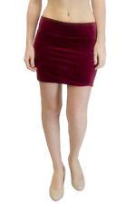 Vivian's Fashions Skirt - Velour Mini Skirt (Junior and Junior Plus Sizes)