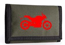 Street Bike impreso para hombres niños Ripper Billetera BAGBASE Tri Fold Deportes Viajes