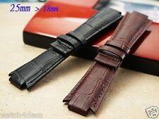 Genuine Leather 25mm band strap bracelet (fits) TISSOT T60 T Trend TXL Men