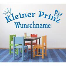Wandtattoo Kleiner Prinz  Name Wunschname Wunschtext Wandaufkleber Sticker 80