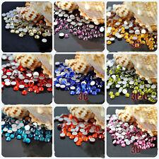Lots 2000Pcs Crystal Flat Back Acrylic Rhinestones Gems  Loose Beads 2mm