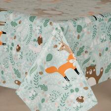 LUXURY WOODLAND FOX, BEES, HEDGEHOG, TEDDY, PVC PLASTIC OIL VINYL TABLE CLOTH