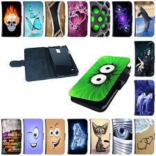 Tasche für Samsung Handys Flip Cover Case Schutz Hülle Etui Schale Wallet Motiv