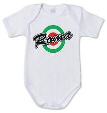BODY tutina bimbo neonato J1448 Roma Coppa Italia Vintage Retro 100% cotone