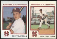 1988-94 Mississippi State Bulldogs Baseball Set Breaks, Choose Players A thru L