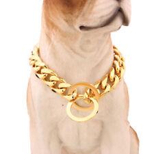 Stainless Steel Pet Dog Collar Best for Large Dogs Pitbull Doberman Bulldog&more