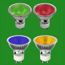 50W GU10 Coloured Dimmable Halogen Reflector Spot Light Bulbs Lamps Downlight