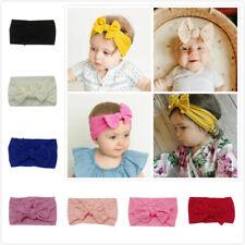 Handmade Baby Girls Kids Bunny Headband Elastic Bowknot Turban Hairband Headwrap