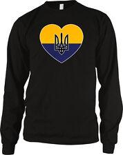 Ukraine Flag Heart Colors Ukrainian Love National Pride Country Ua Men's Thermal