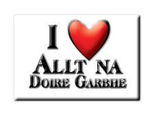 SOUVENIR UK - SCOTLAND FRIDGE MAGNET I LOVE ALLT NA DOIRE GARBHE (HIGHLAND)