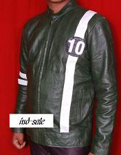 Custom Tailor Made Genuine Leather Jacket Men's Ben 10 Style