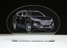 Acrylglas Aufsteller mit Gravur Hyundai Tucson oder dein Auto als Fotogravur