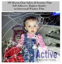 Seguridad y de seguridad película de la ventana / clara protección De Vidrio / 99% Uv rechazo