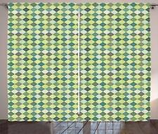 Plaid Curtains 2 Panel Set for Decor 5 Sizes Available Window Drapes
