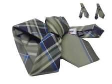 Cravatta a quadri tartan style beige verdino blu azzurro anche slim