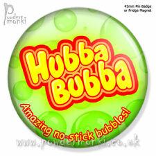HUBBA BUBBA ~ Pin Badge or Fridge Magnet [45mm] Retro Sweets