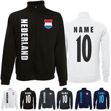 Niederlande NEDERLAND wM 2018 Sweat Jacke Trikot Name Nummer