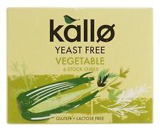 Kallo Levure gratuit légumes Stock CUBES 60 g