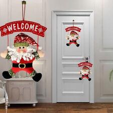 1Pcs Santa Claus Door Hanging Christmas Tree Home Decor Ornaments Xmas Gift