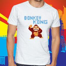 New Donkey Kong Retro Level Arcade Game Men's White T-Shirt Size S to 3XL