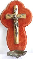 OBJET RELIGIEUX CROIX AVEC CHRIST, CRUCIFIX BENITIER