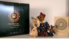 TEDDY BEAR BOYDS BEARSTONES LOUELLE and HEDDA the SECRET resin figurine #227705