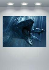 Jurassic Dinosaur Shark Movie Large Poster Art Print
