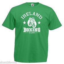 Irlanda Boxing Club Adultos Para Hombre T Shirt 12 Colores Talle S - 3xl