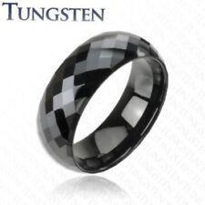 Tungsten Carbide Ring Wedding Black Prism Size 9,10,11,12,13,14 (f38)