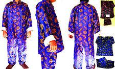 Asia Kung-Fu,Tai-Chi, Wu Shu, China/Japan Shaolin Anzug Sport Seide Blau M/L/3XL