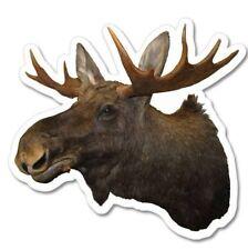 Moose Head Car Vinyl Sticker - SELECT SIZE