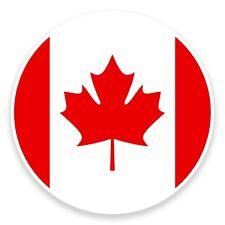 2 x Canada Flag Map Vinyl Sticker Travel Car Luggage #9017