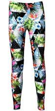 Designer Tropical Floral Palm Leaves Geometric Polka Dot Marble Printed Leggings
