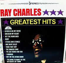 "RAY CHARLES~""GREATEST HITS""~ORIGINAL ABC PARA~VG+ STEREO~""FREE S/H""~ LP!!!"