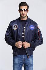 New US NASA MA1 Flight Bomber Jacket Baseball Coat Thin Coat Jacket XS-2XL