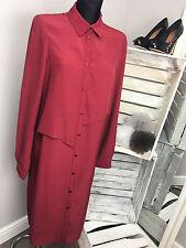 ASOS TALL Midi Shirt Dress with Asymmetric Frill RRP £42 (AS-40/2)