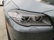 2011-2013 BMW 5 SERIES F10 PRECUT HEADLIGHT EYELID GLOSS BLACK OVERLAYS