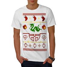 Wellcoda Chinese Dragon New Year Mens T-shirt, Happy Graphic Design Printed Tee