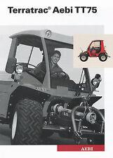 Aebi Terratrac TT75 Geräteträger Prospekt 6/03 brochure Broschüre 2003 Schweiz