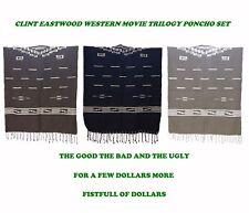 Clint Eastwood Western Movie Trilogy Poncho Set