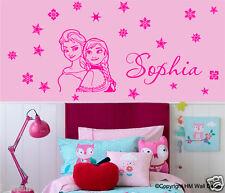 ELSA-ANNA Inspired,snowflakes FREE Personalised Name wall sticker,KIDS / NURSERY