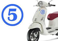Pegatina vinilo Numero 5. Stiker vinyl cut number FIVE. Outdoor or indoor. CINCO