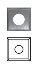 HW-(HM) Wendeplatten Vorschneider 4 schneidig für Wendeplattenwerkzeuge SK1792
