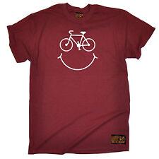 Bike Smile Smiley Face T-SHIRT Cyclist Bike Cycling Jersey birthday fashion gift