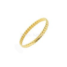1 x Burma Bilezik üclü Gold Armreifen Armreif 24 Karat Vergoldet Altin 0,7 cm