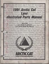 1991 ARCTIC CAT SNOWMOBILE LYNX PARTS  MANUAL P/N 2254-655